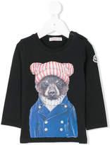 Moncler bear print T-shirt