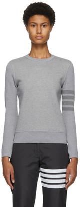 Thom Browne Grey Loopback 4-Bar Sweatshirt