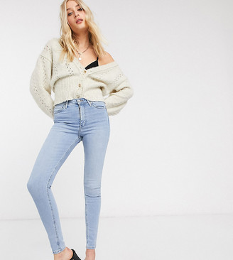 Topshop Tall jamie pocket jeans in bleach