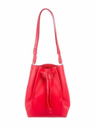 Maison Margiela Leather Bucket Bag Red