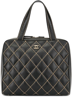Chanel Pre Owned 2000-2002 Wild-Stitch CC logos tote