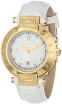 Versace Women's 68Q70D498 S001 REVE Yellow Gold Ion-Plated Stainless Steel Dial Date Watch