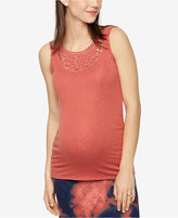 A Pea in the Pod Maternity Crochet-Trim Tank Top