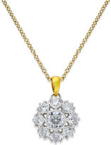 Marchesa Certified Diamond Pendant in 18k Gold & White Gold (3/4 ct. t.w.)