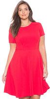 ELOQUII Plus Size Textured Circle Dress