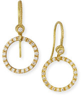 Dominique Cohen 18K Yellow Gold & White Diamond Round Drop Earrings