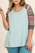 Umgee USA Blue Raglan Top