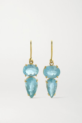 Irene Neuwirth Gemmy Gem 18-karat Gold, Aquamarine And Diamond Earrings - one size