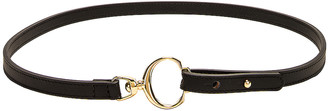 Chloé Leather C Belt in Black | FWRD