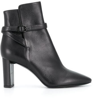 Saint Laurent Buckled 80mm Ankle Boots