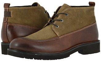 Johnston & Murphy Sanders Chukka (Whiskey Full Grain/Tan Oiled Suede) Men's Boots