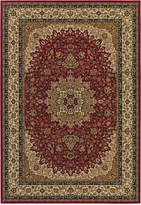 "Couristan Area Rug, Tamena TAM102 Kashan Red 2'7"" x 7'10"" Runner Rug"