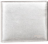 Givenchy Metallic Leather Bi-Fold Wallet, Silver