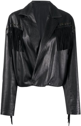 A.N.G.E.L.O. Vintage Cult 1980s Fringed Leather Jacket