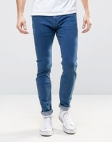 Rollas Stinger Low Rise Super Skinny Jean Blue Tint Wash