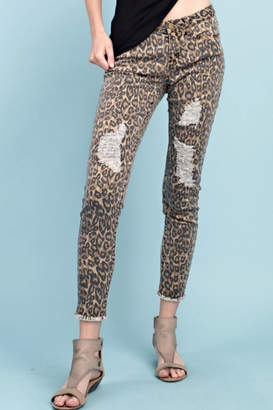Easel Distressed Ankle Pant