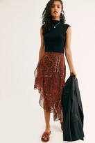Free People Laney Printed Midi Skirt by Free People, Sunset Combo, XS