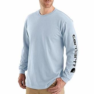 Carhartt Men's Big & Tall Signature Logo Long Sleeve T Shirt