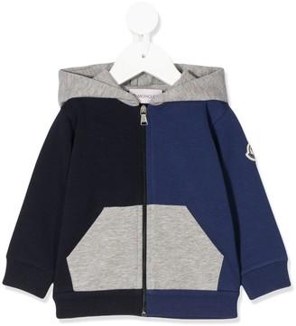 Moncler Enfant Colour Blocked Zipped Hoodie