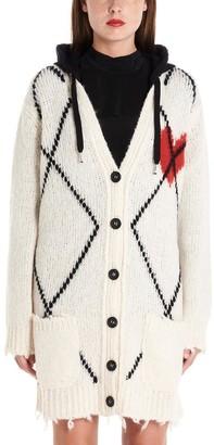 RED Valentino Hooded Knitted Cardigan
