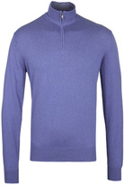 Hackett Royal Blue Funnel Neck Cashmere Knit Sweater