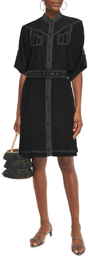 Thumbnail for your product : Zimmermann Belted Silk Crepe De Chine Shirt Dress