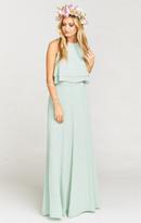 MUMU Princess Ariel Ballgown Maxi Skirt ~ Dusty Mint Crisp