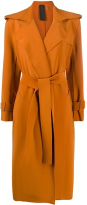 Norma Kamali Belted Wrap Trench Coat