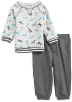 Little Me Infant Boy's Safari Print Sweatshirt & Jogger Pants Set