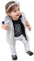 FTXJ Baby Girl Fashion Cool Leggings Faux Leather Tights Skinny Pants (9M, )