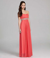 Sequin Hearts Strapless Beaded Dress