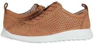 Ecco Flexure Runner Perf Sneaker (Cashmere Cow Nubuck) Women's Shoes