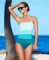 Magicsuit Swimsuit, Leah Bandeau Colorblock Ruffle One-Piece