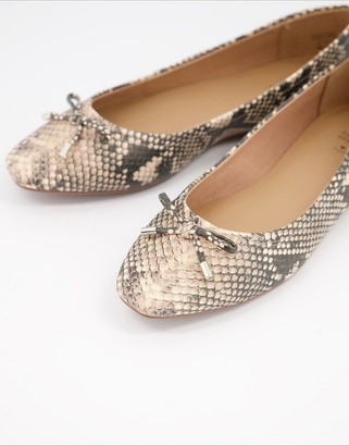 Call it SPRING by ALDO Natalie flat ballet shoes in snake