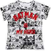 "Little Eleven Paris KIDS' ""BATMAN IS MY HERO"" COTTON-BLEND T-SHIRT"
