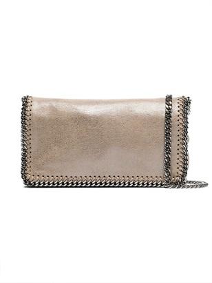 Stella McCartney Beige And Silver Metallic Falabella Crossbody Bag