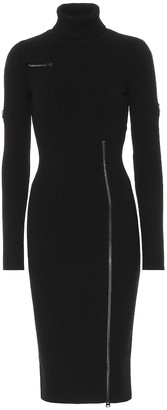 Tom Ford Wool-blend turtleneck midi dress