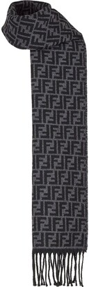 Fendi FF pattern fringed scarf