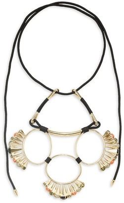 Alexis Bittar 10K Goldplated, Mother-Of-Pearl, Hematite Faux Pearl Statement Necklace