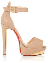 Christian Louboutin Women's Tuctopen Platform Sandals-NUDE