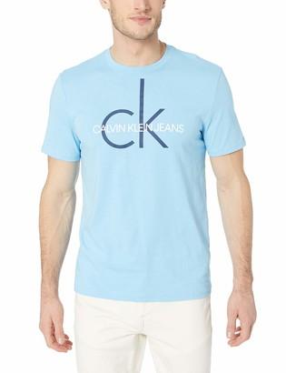 Calvin Klein Men's Short Sleeve Classic Logo Crew Neck T-Shirt