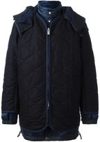 Sacai layered quilted coat