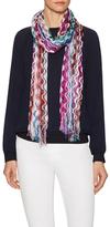 Missoni Fringed Crochet Long Scarf