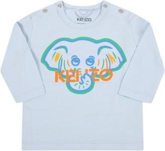 Kenzo Kids Light Blue T-shirt For Babyboy