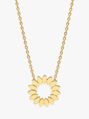 Estella Bartlett Modern Floral Pendant Necklace, Gold