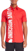 Love Moschino Peace Logo Shirt