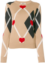 MSGM diamond pattern jumper - women - Acrylic/Wool - S