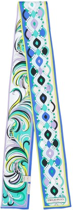 Emilio Pucci thin tie-scarf