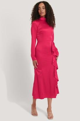 NA-KD High Neck Midi Dress