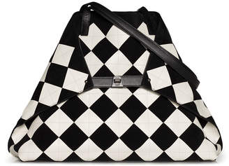 Akris Ai Medium Patchwork Tiles Shoulder Tote Bag